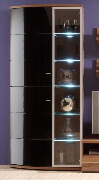 vitrine nussbaum massiv gallery of finest vitrine regison in braun kiefer massiv shabby chic. Black Bedroom Furniture Sets. Home Design Ideas