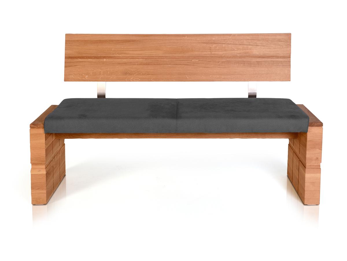 wood sitzbank mit r cken und massivem gestell 150 cm. Black Bedroom Furniture Sets. Home Design Ideas