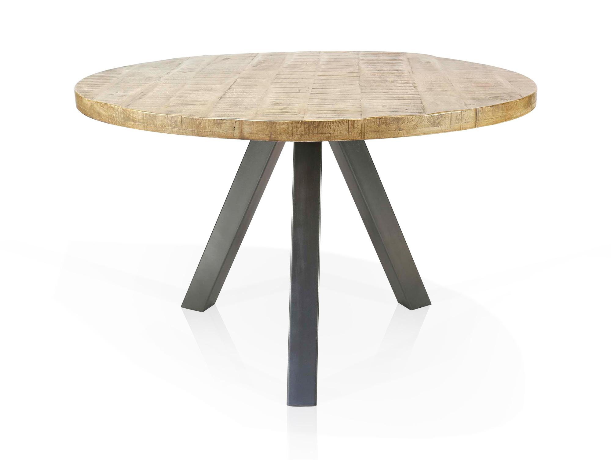 ZANTA Esstisch rund, Material Massivholz, Mangoholz 120 cm