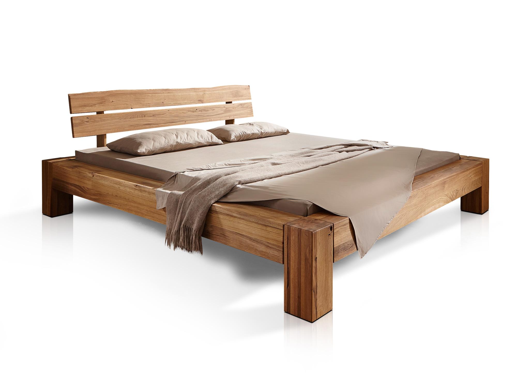 BENISSA Doppelbett Wildeiche geölt 160 x 200 cm
