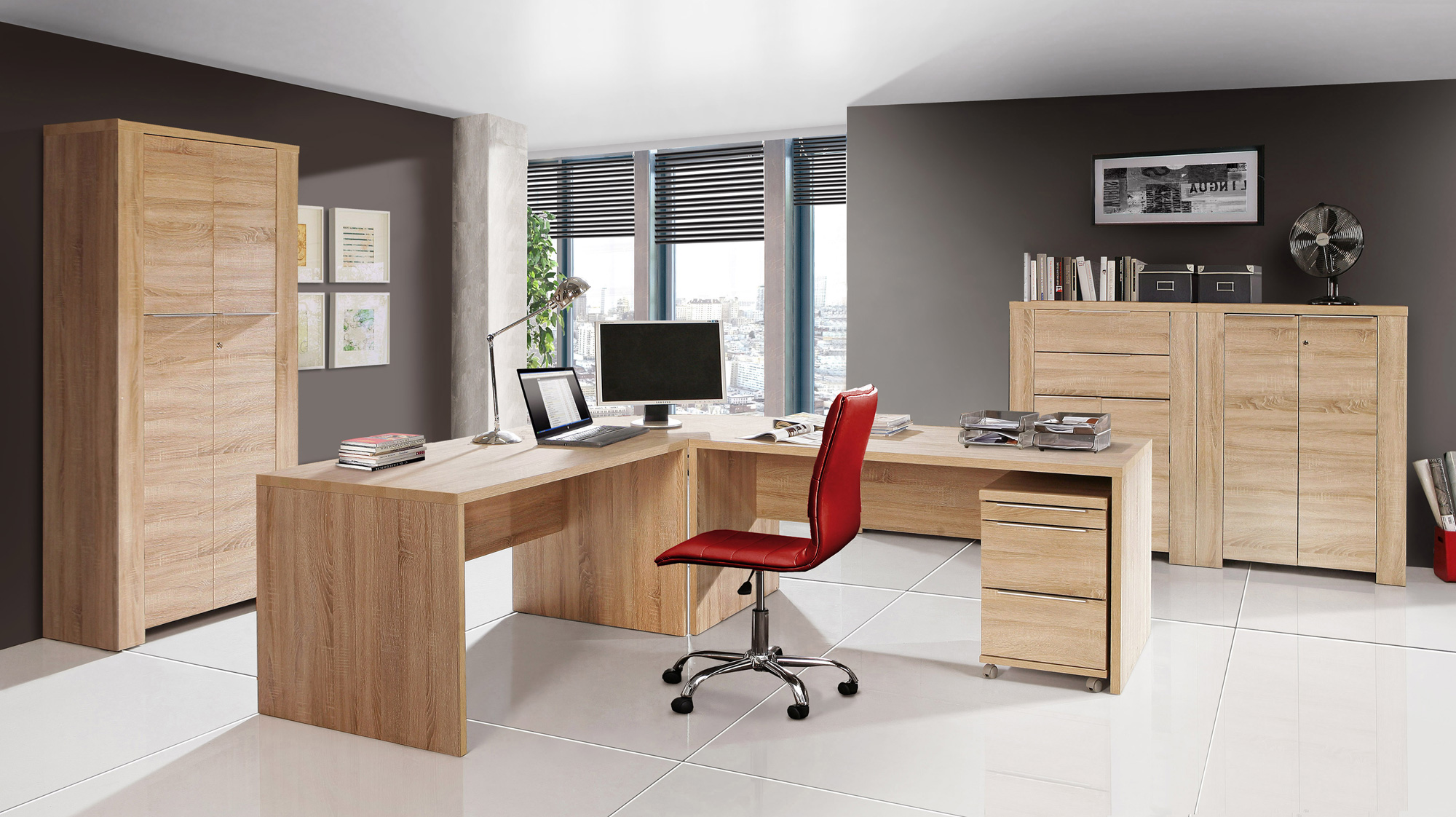 camillo i komplett b ro sonoma eiche. Black Bedroom Furniture Sets. Home Design Ideas