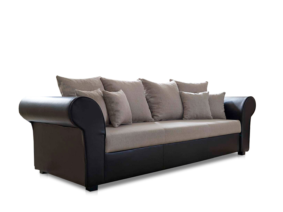 lessy big sofa microfaser braun. Black Bedroom Furniture Sets. Home Design Ideas