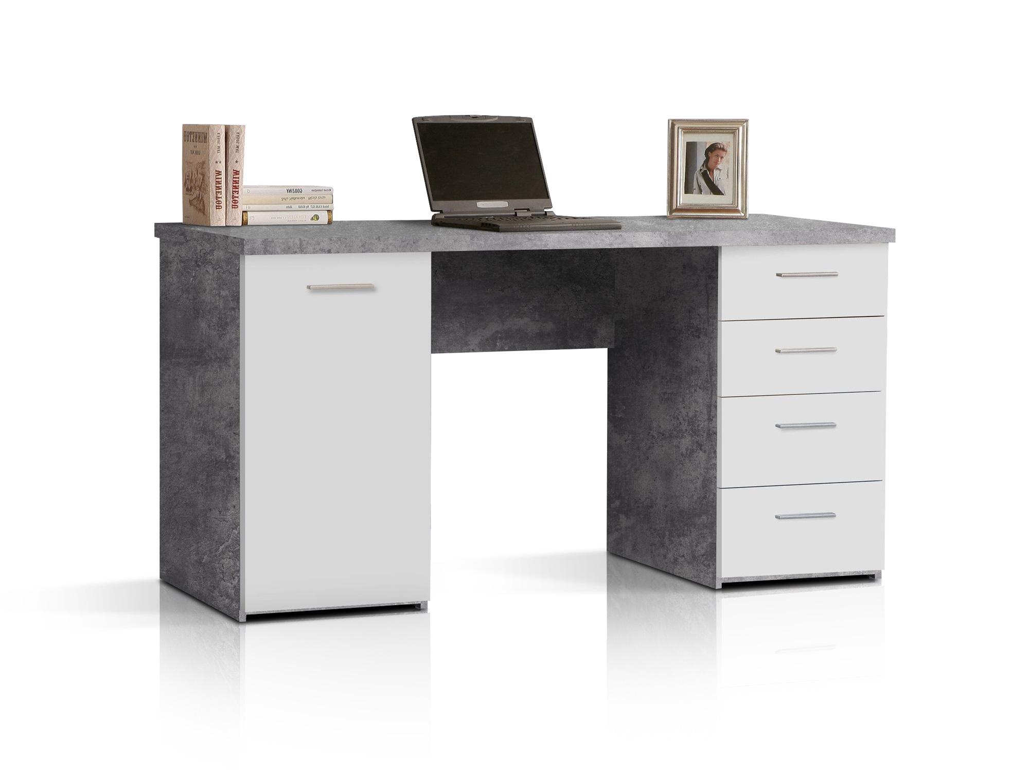 migel schreibtisch beton weiss. Black Bedroom Furniture Sets. Home Design Ideas