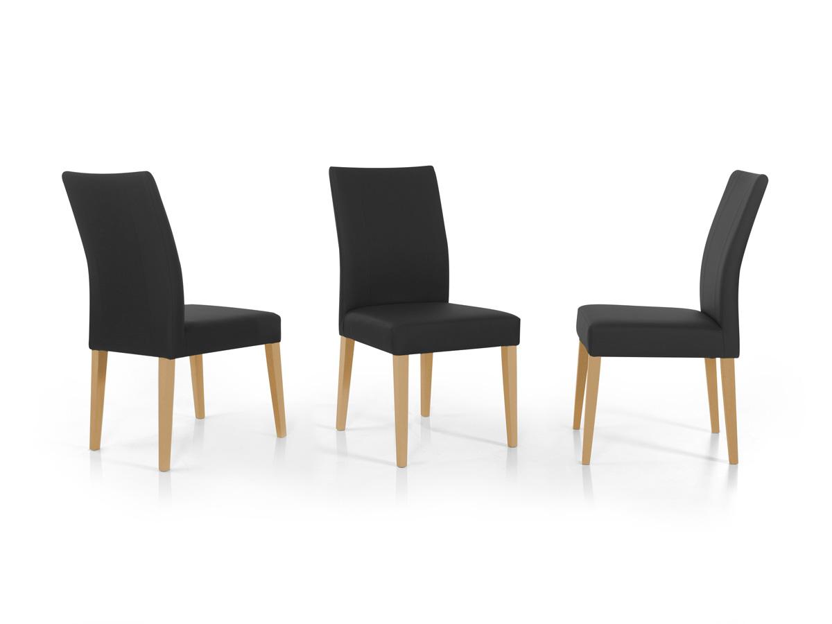 spider polsterstuhl esstischstuhl kunstleder schwarz eiche natur. Black Bedroom Furniture Sets. Home Design Ideas