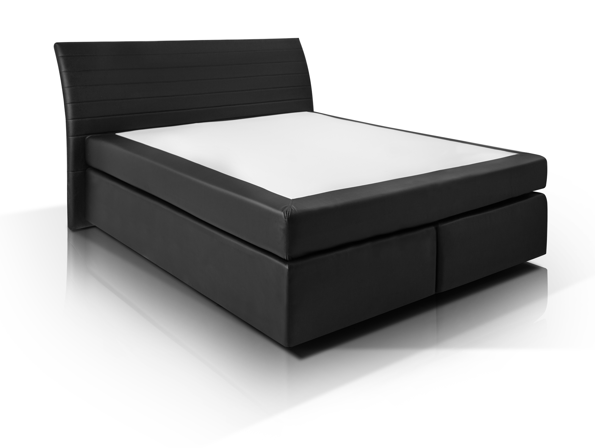 heaven boxspringbett kunstlederbezug 180 x 200 cm schwarz h rtegrad 3. Black Bedroom Furniture Sets. Home Design Ideas
