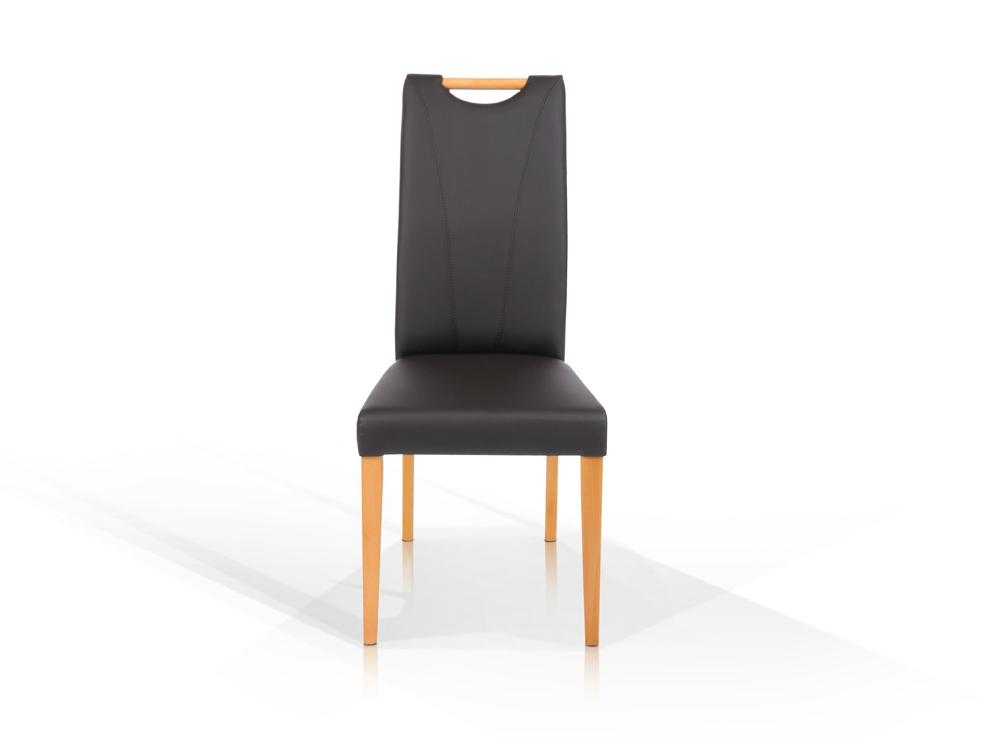 cassy polsterstuhl mit griff kunstleder schwarz. Black Bedroom Furniture Sets. Home Design Ideas