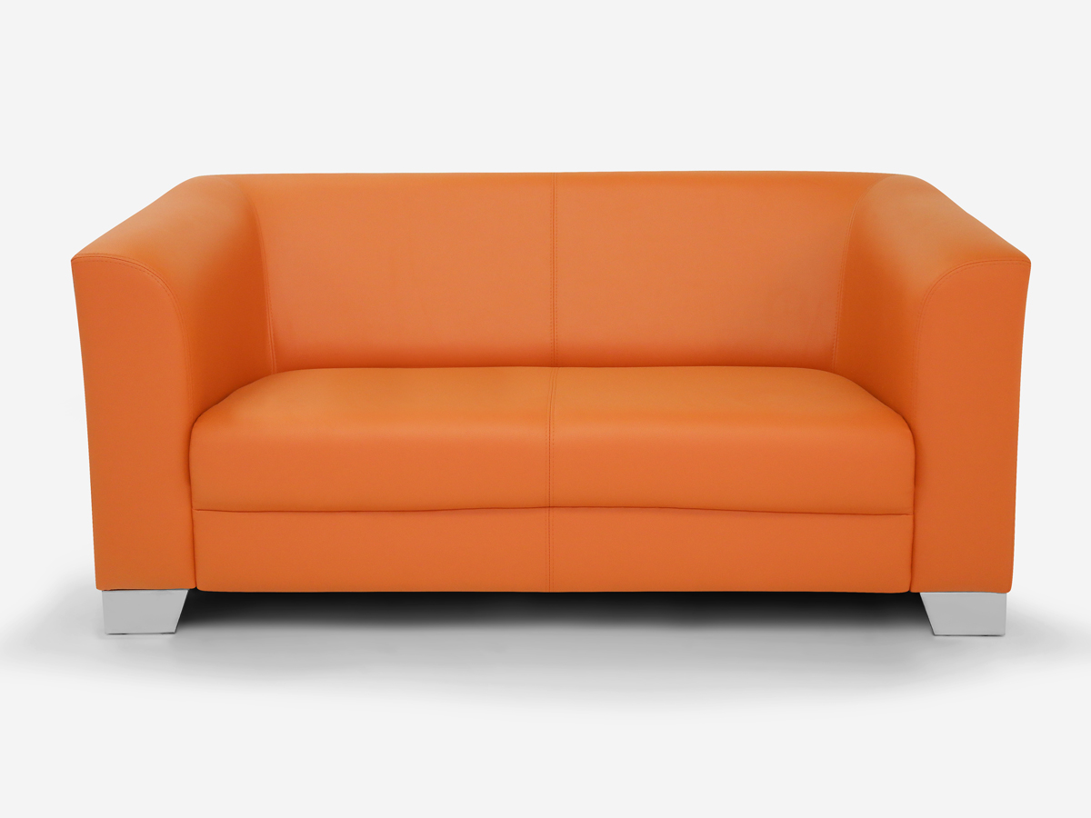chicago 2 sitzer sofa ledersofa orange. Black Bedroom Furniture Sets. Home Design Ideas