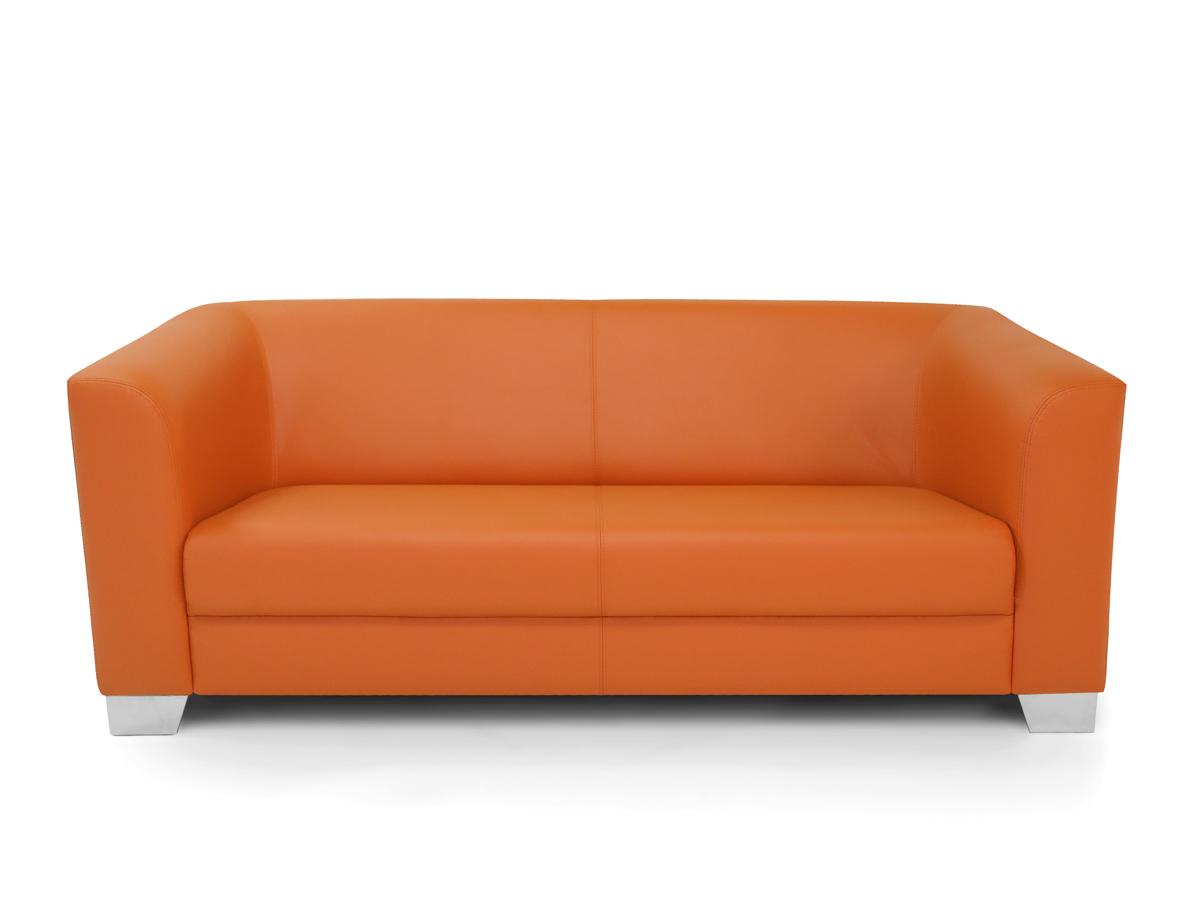 chicago 3er sofa ledersofa orange. Black Bedroom Furniture Sets. Home Design Ideas