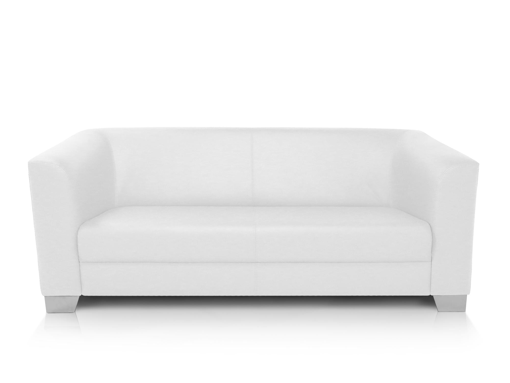 chicago 3 sitzer sofa ledersofa weiss. Black Bedroom Furniture Sets. Home Design Ideas