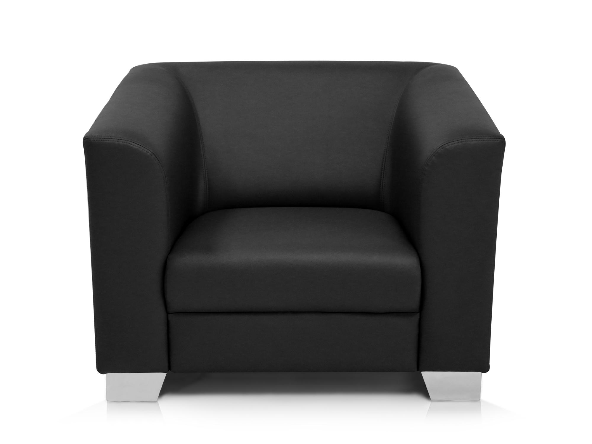 CHICAGO Sessel  Ledersessel schwarz