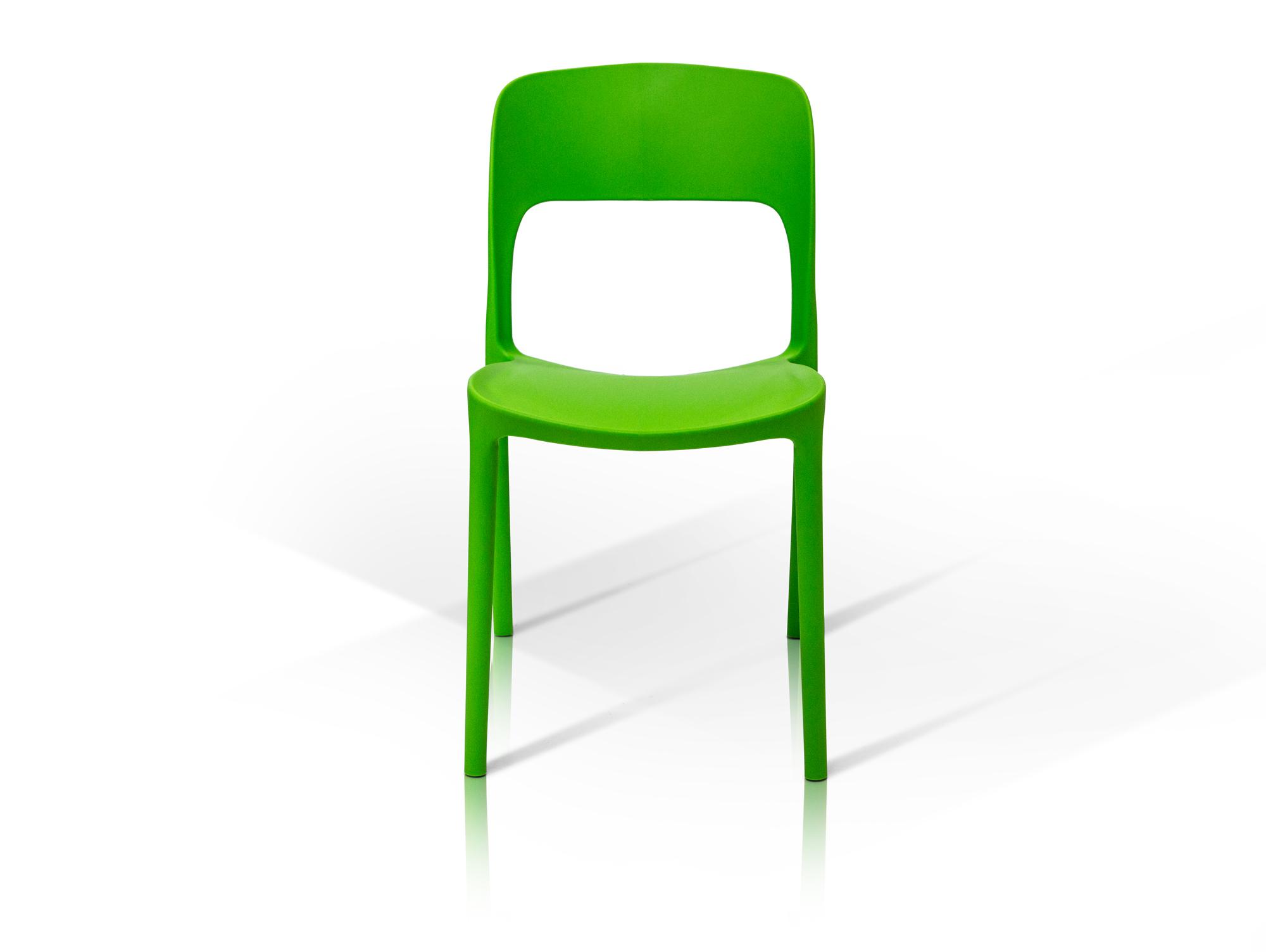 florian kunststoff stuhl gr n. Black Bedroom Furniture Sets. Home Design Ideas