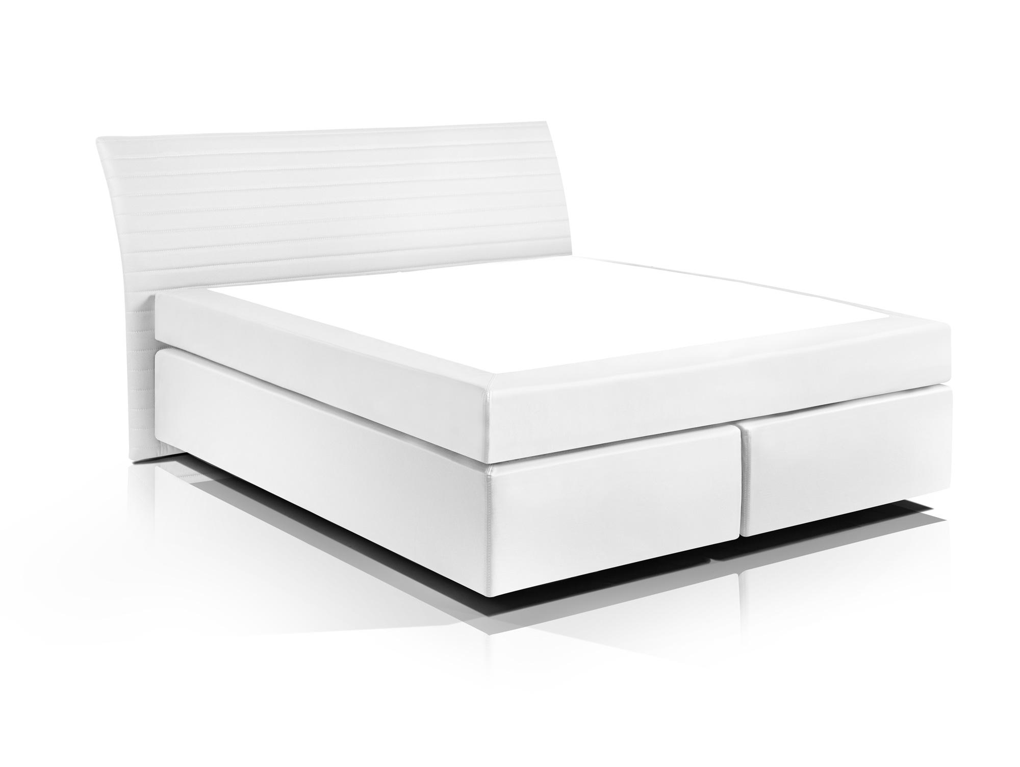 heaven boxspringbett kunstlederbezug 160 x 200 cm weiss h rtegrad 2 3. Black Bedroom Furniture Sets. Home Design Ideas