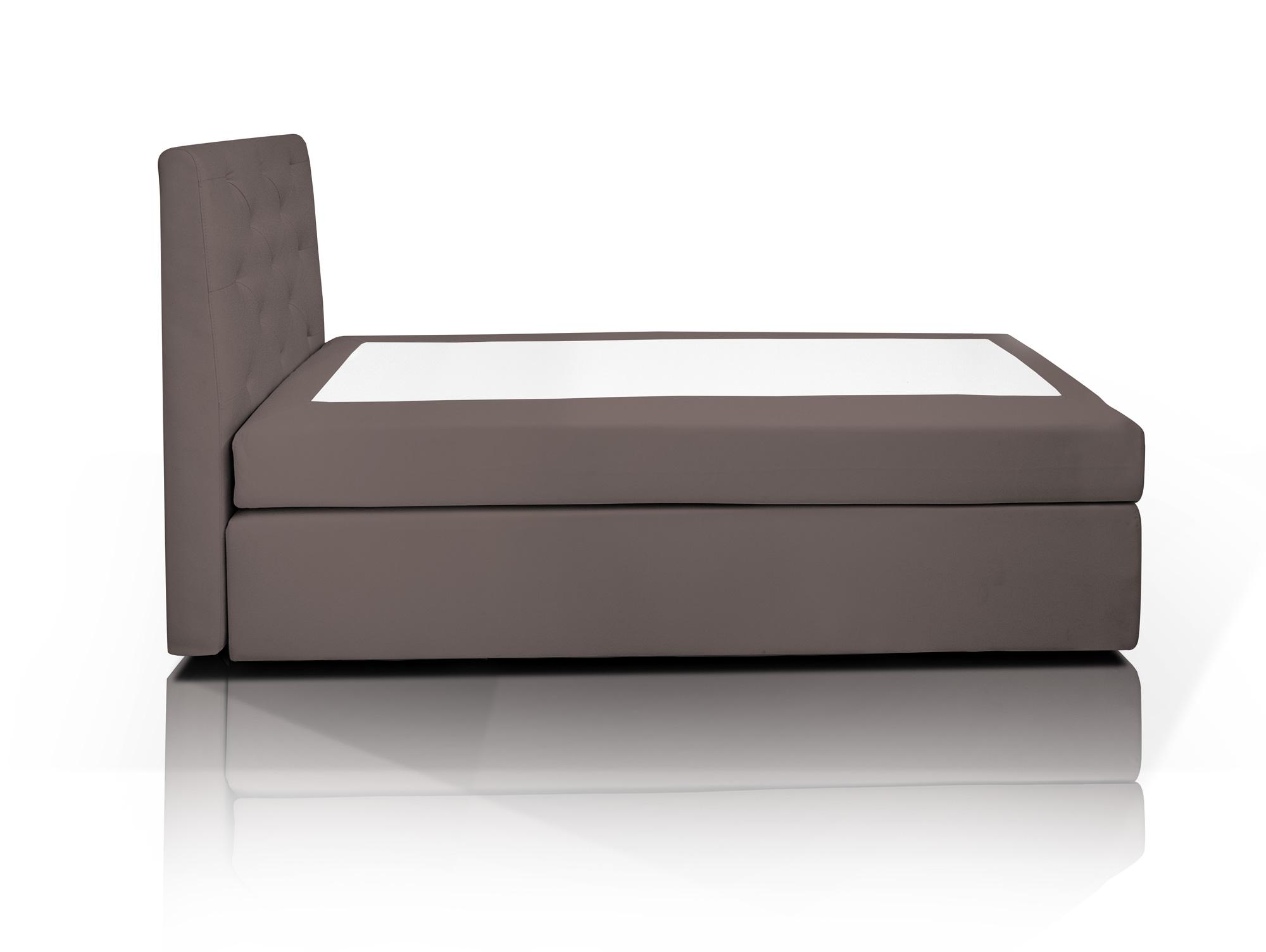 hotel boxspringbett webstoffbezug 80 x 200 cm braun h rtegrad 2. Black Bedroom Furniture Sets. Home Design Ideas