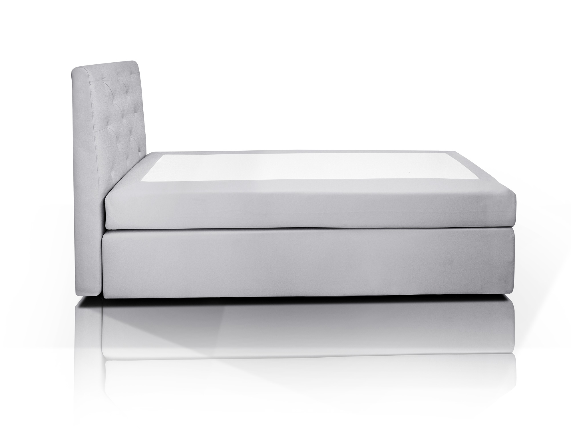 hotel boxspringbett webstoffbezug 80 x 200 cm grau h rtegrad 2. Black Bedroom Furniture Sets. Home Design Ideas