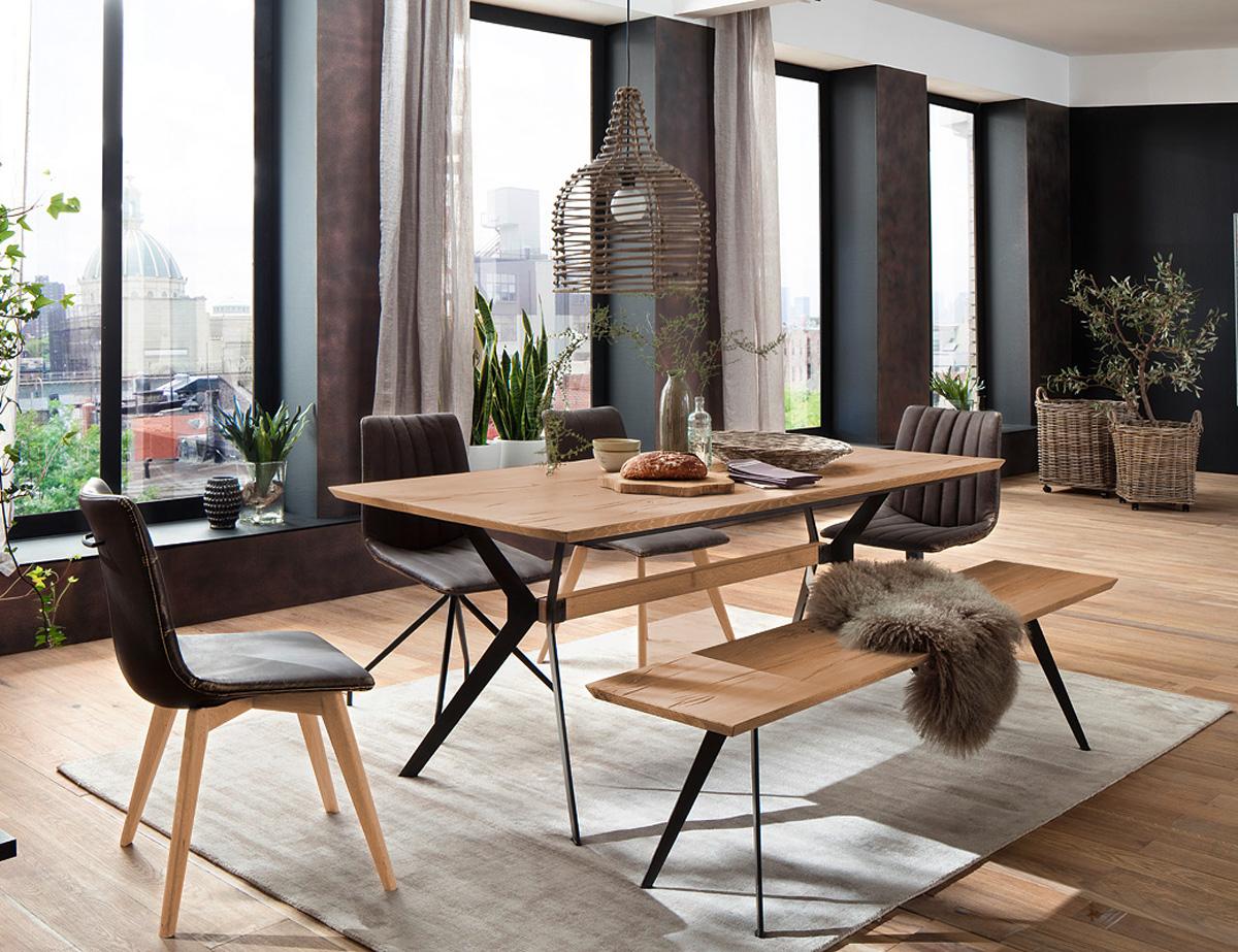 kiki esstisch massivholz 200 x 100 cm wildeiche. Black Bedroom Furniture Sets. Home Design Ideas
