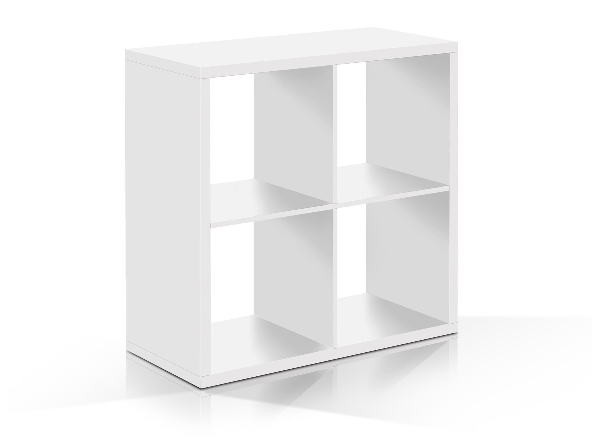 Maxi Regal 4er Wurfel Material Dekorspanplatte Weiss