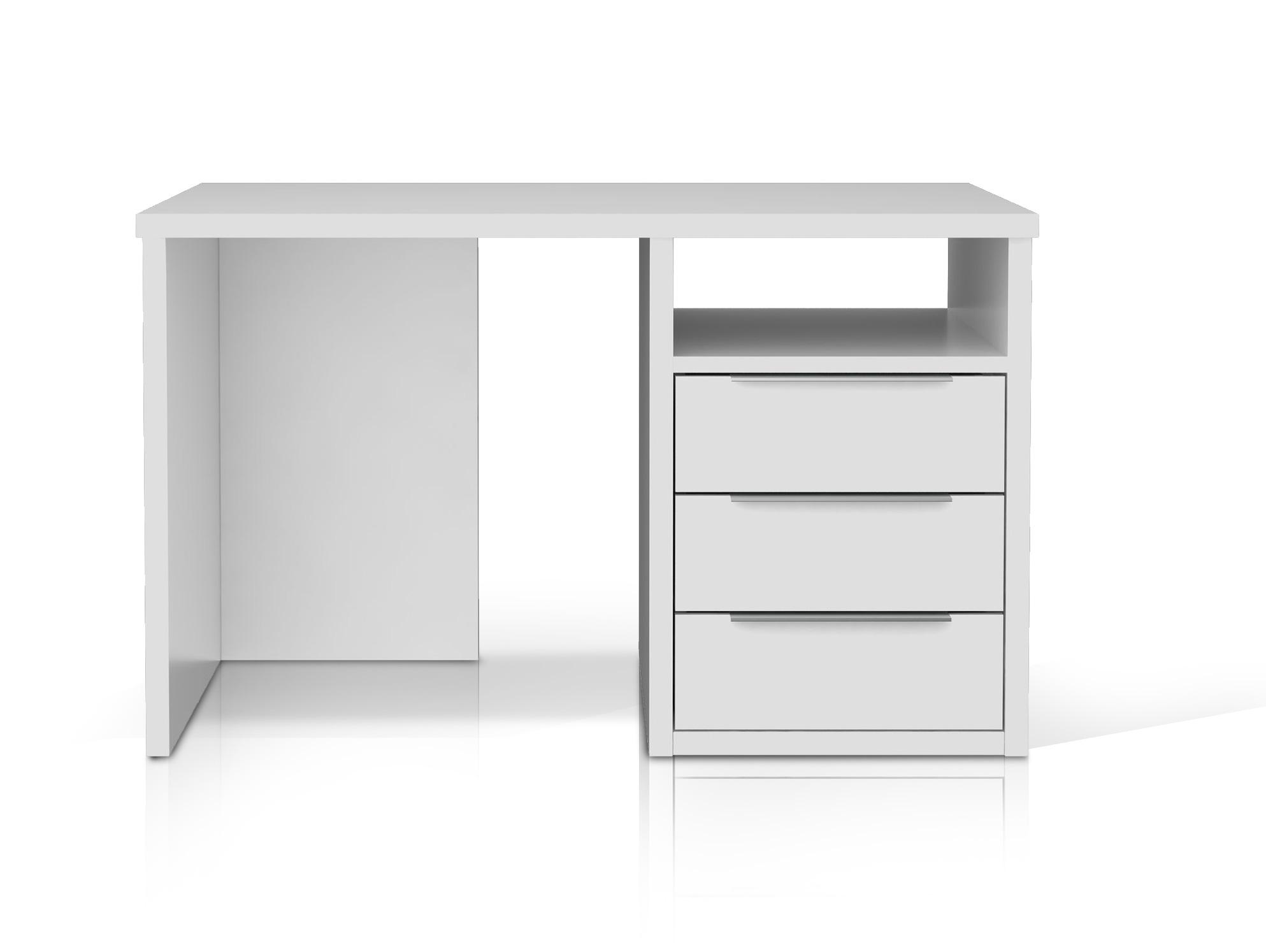 orca schreibtisch 120 cm schubladen rechts weiss. Black Bedroom Furniture Sets. Home Design Ideas