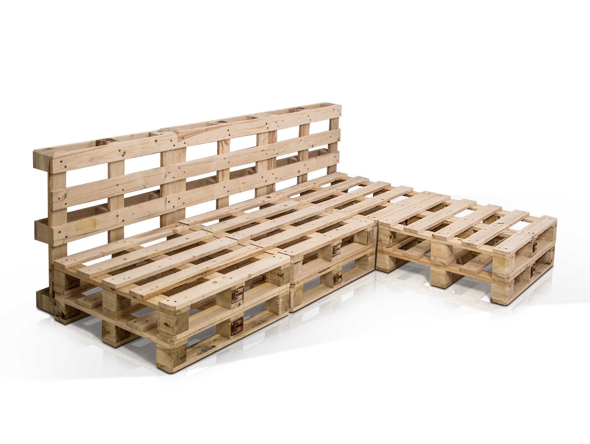 ecksofa paletti 3 sitzer aus paletten fichte natur ohne armlehnen. Black Bedroom Furniture Sets. Home Design Ideas