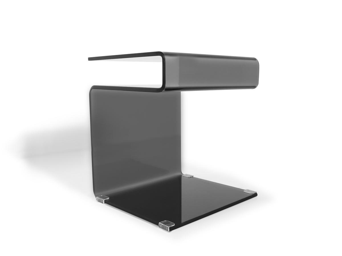 susy beistelltisch glas schwarz. Black Bedroom Furniture Sets. Home Design Ideas