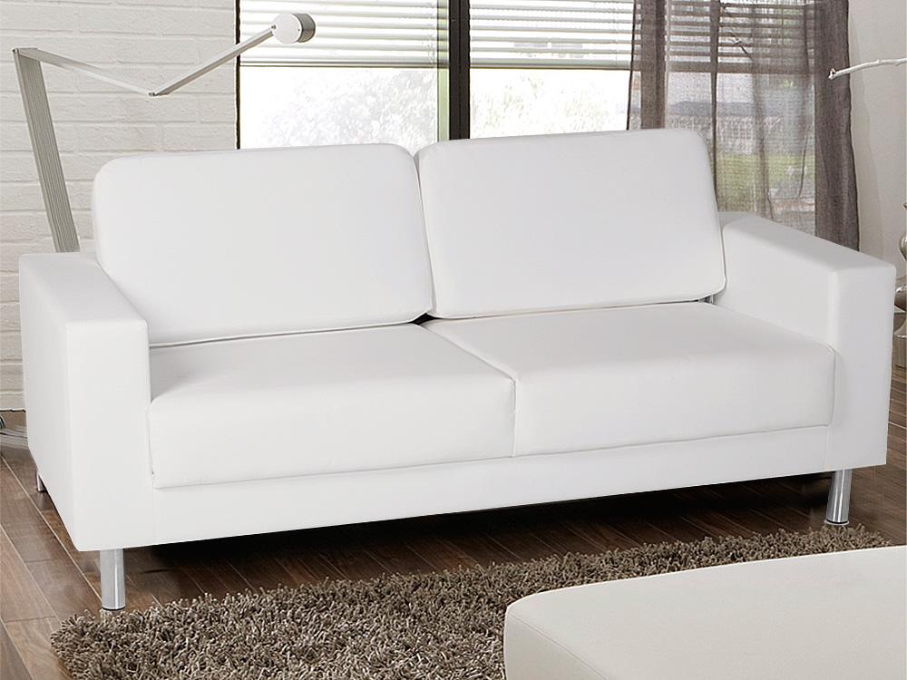 susi 3er kunstleder sofa weiss. Black Bedroom Furniture Sets. Home Design Ideas