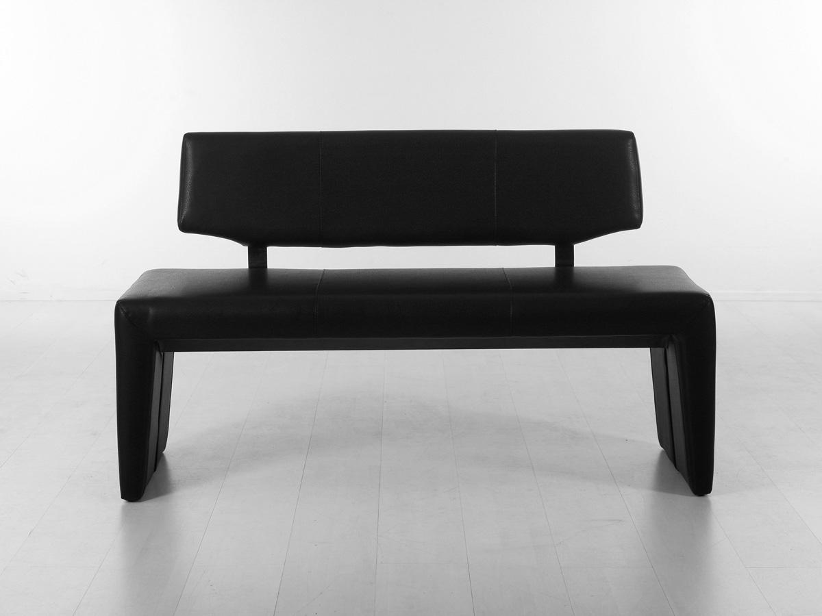ira sitzbank kunstleder mit r cken 140 cm schwarz. Black Bedroom Furniture Sets. Home Design Ideas