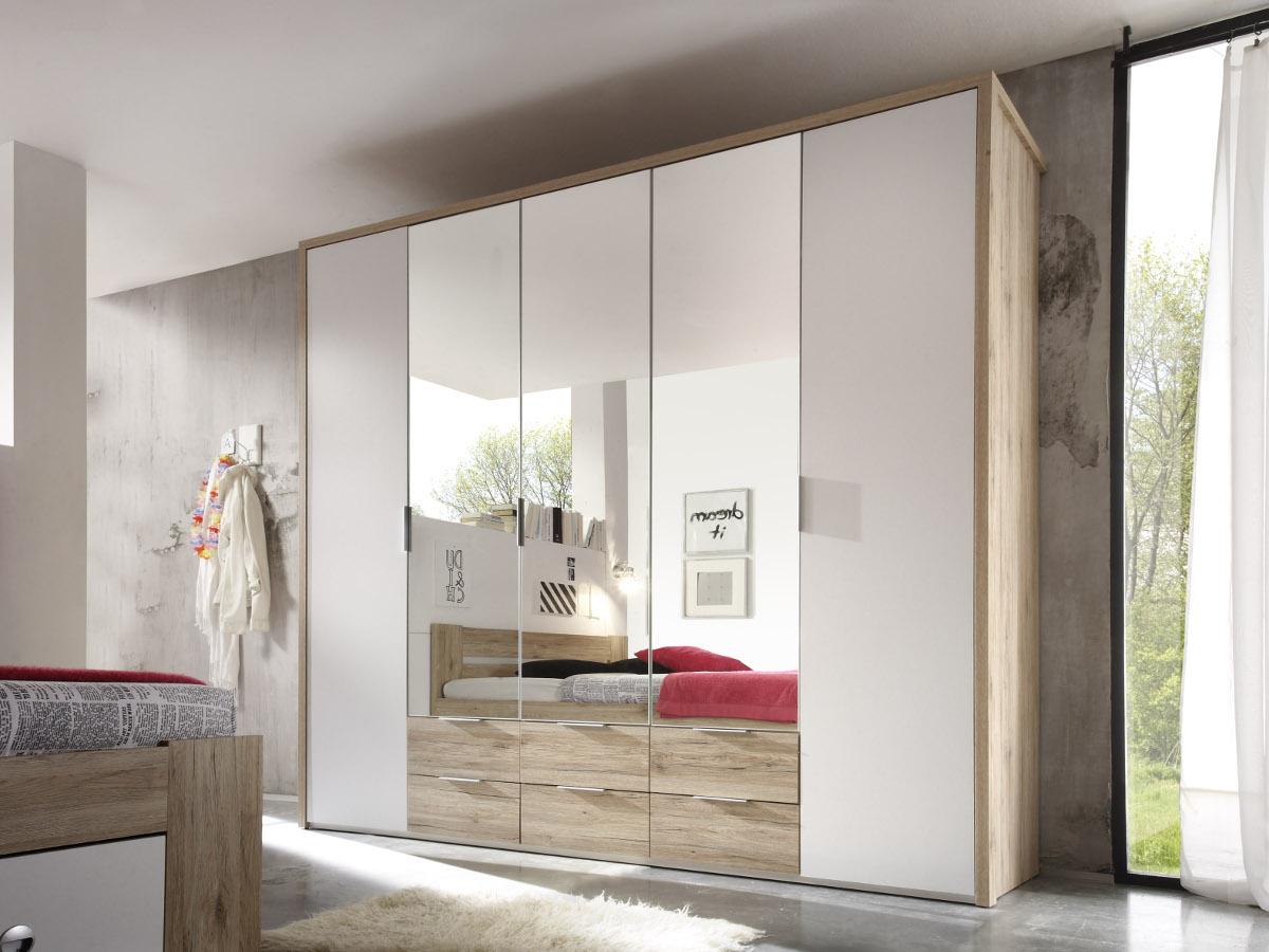 conny komplett-schlafzimmer eiche san remo/weiss 140 x 200 cm, Wohnzimmer dekoo