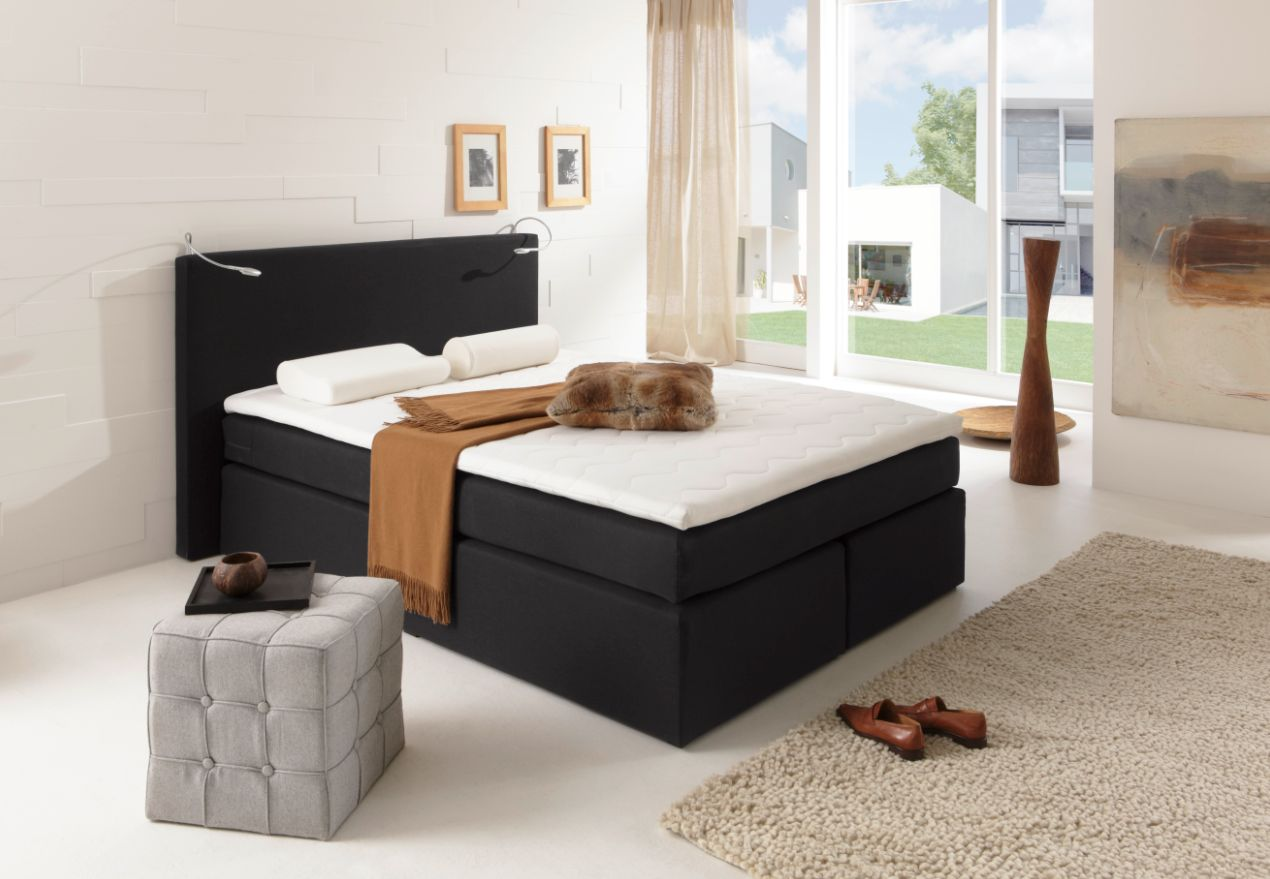 led beleuchtung f r boxspringbett 2er set chrom farbig. Black Bedroom Furniture Sets. Home Design Ideas