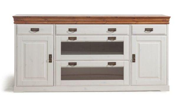 ralf sideboard kiefer wei kranz honig. Black Bedroom Furniture Sets. Home Design Ideas