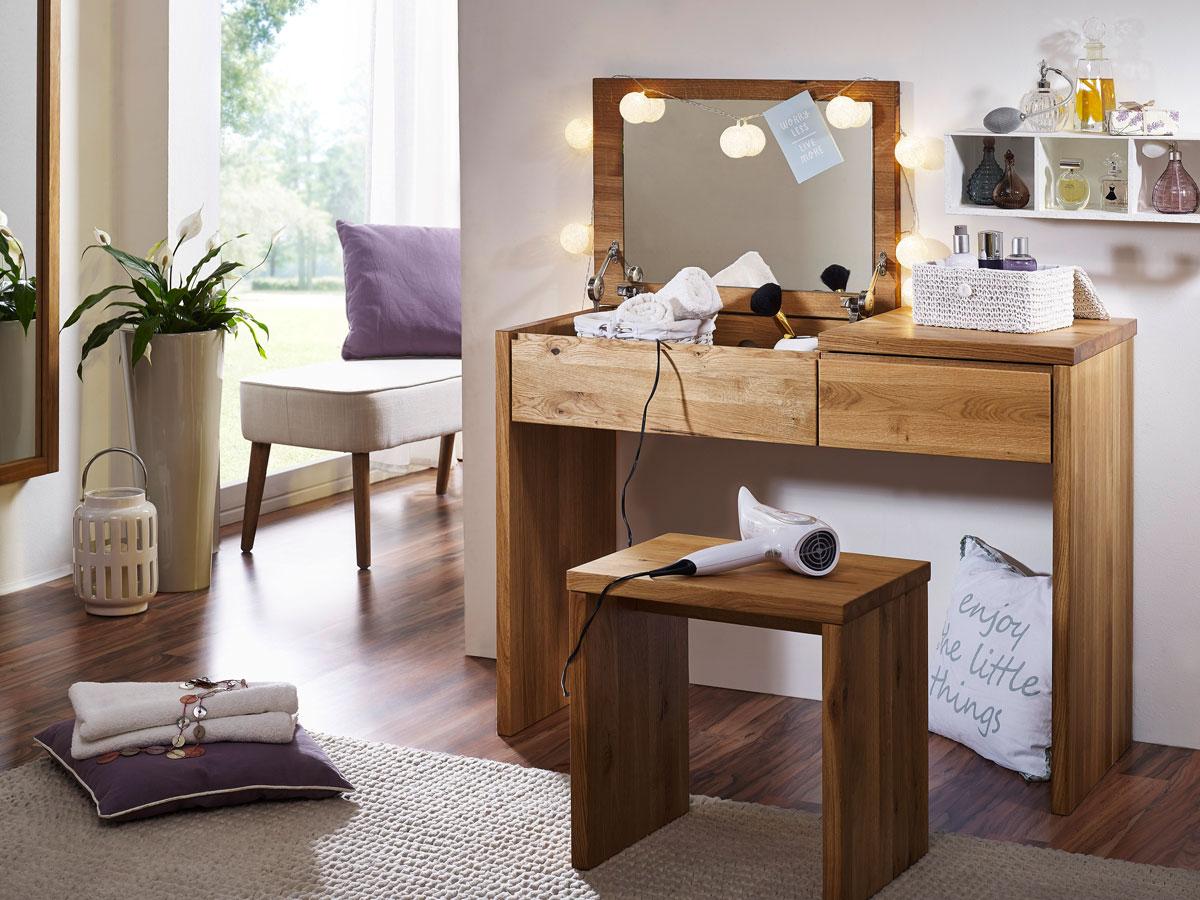 steffen schminktisch wildeiche ge lt. Black Bedroom Furniture Sets. Home Design Ideas