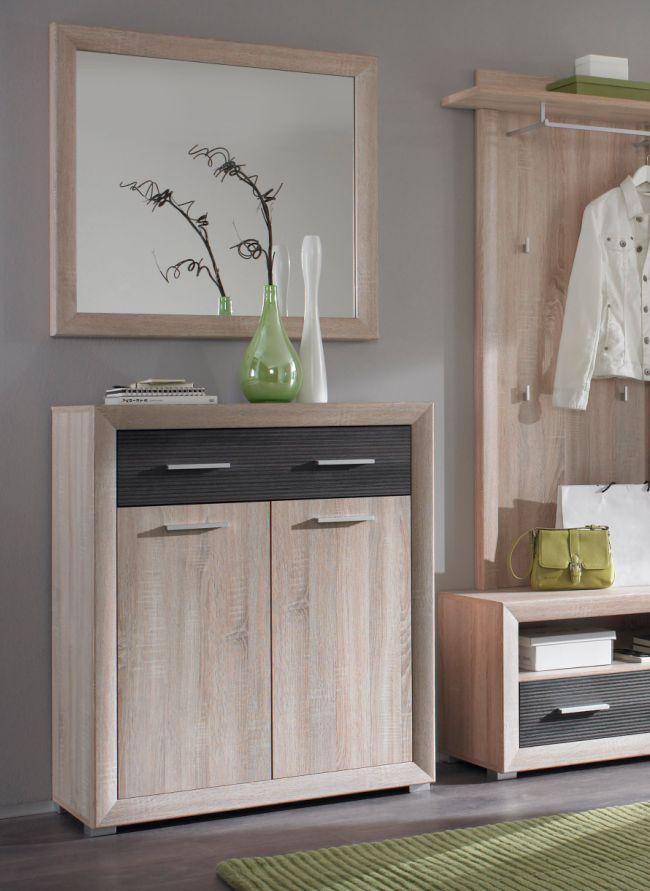 brandy schuhschrank schuhkommode eiche sonoma pinie dunkel. Black Bedroom Furniture Sets. Home Design Ideas