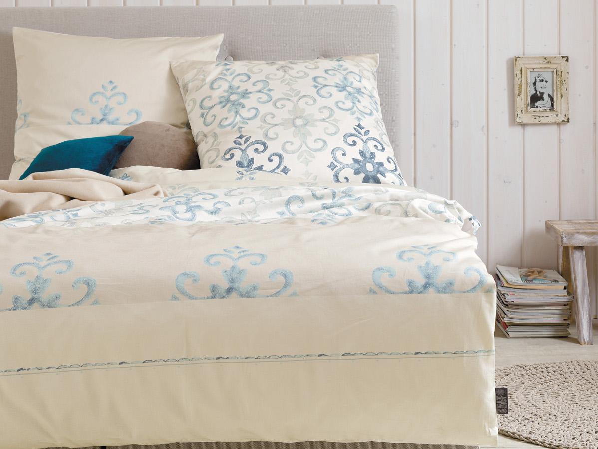 zeitgeist feinflanell bettw sche 135x200 80x80 beige. Black Bedroom Furniture Sets. Home Design Ideas