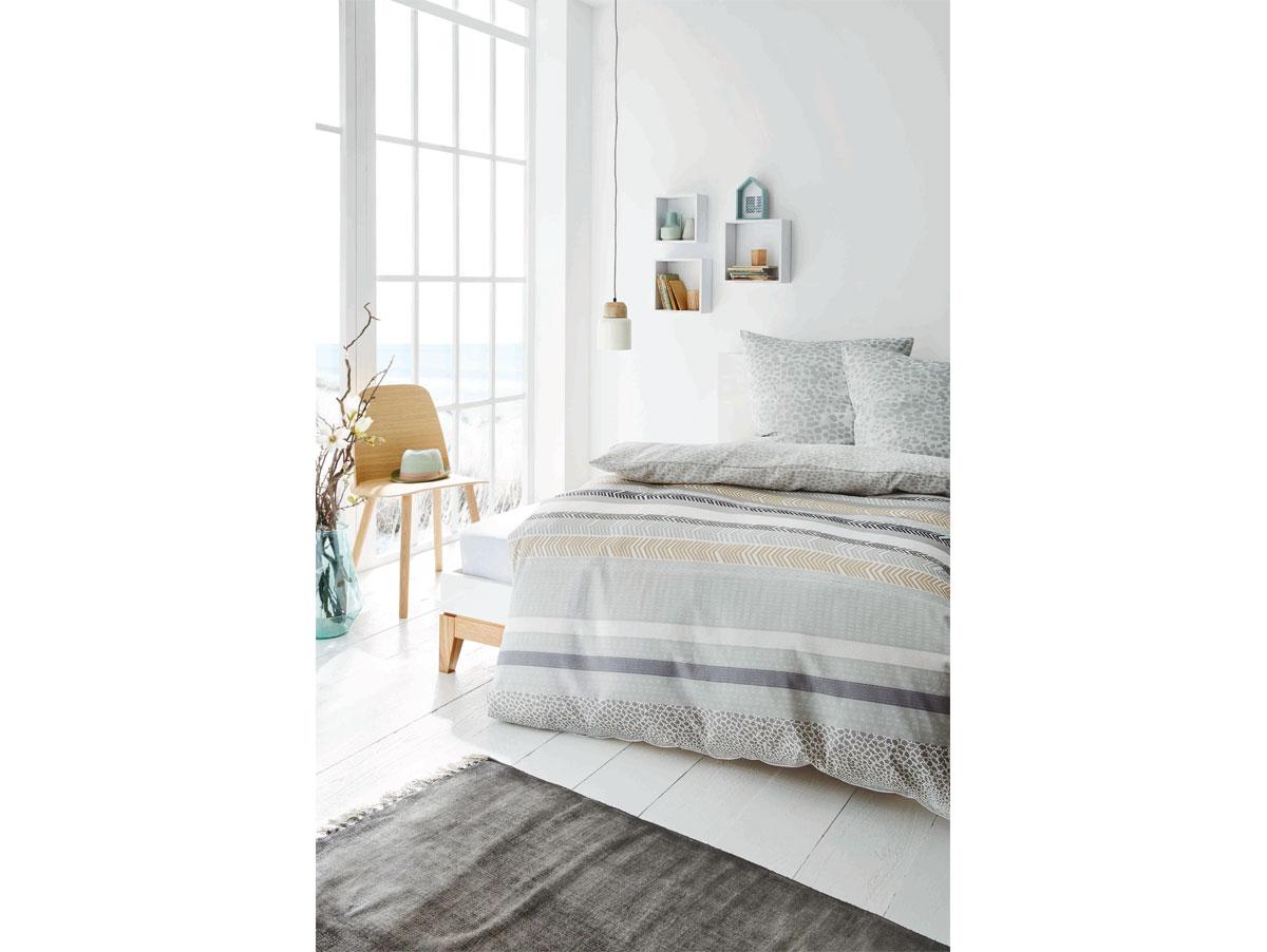 s oliver bettw sche renforc grau beige 135x200 80x80. Black Bedroom Furniture Sets. Home Design Ideas