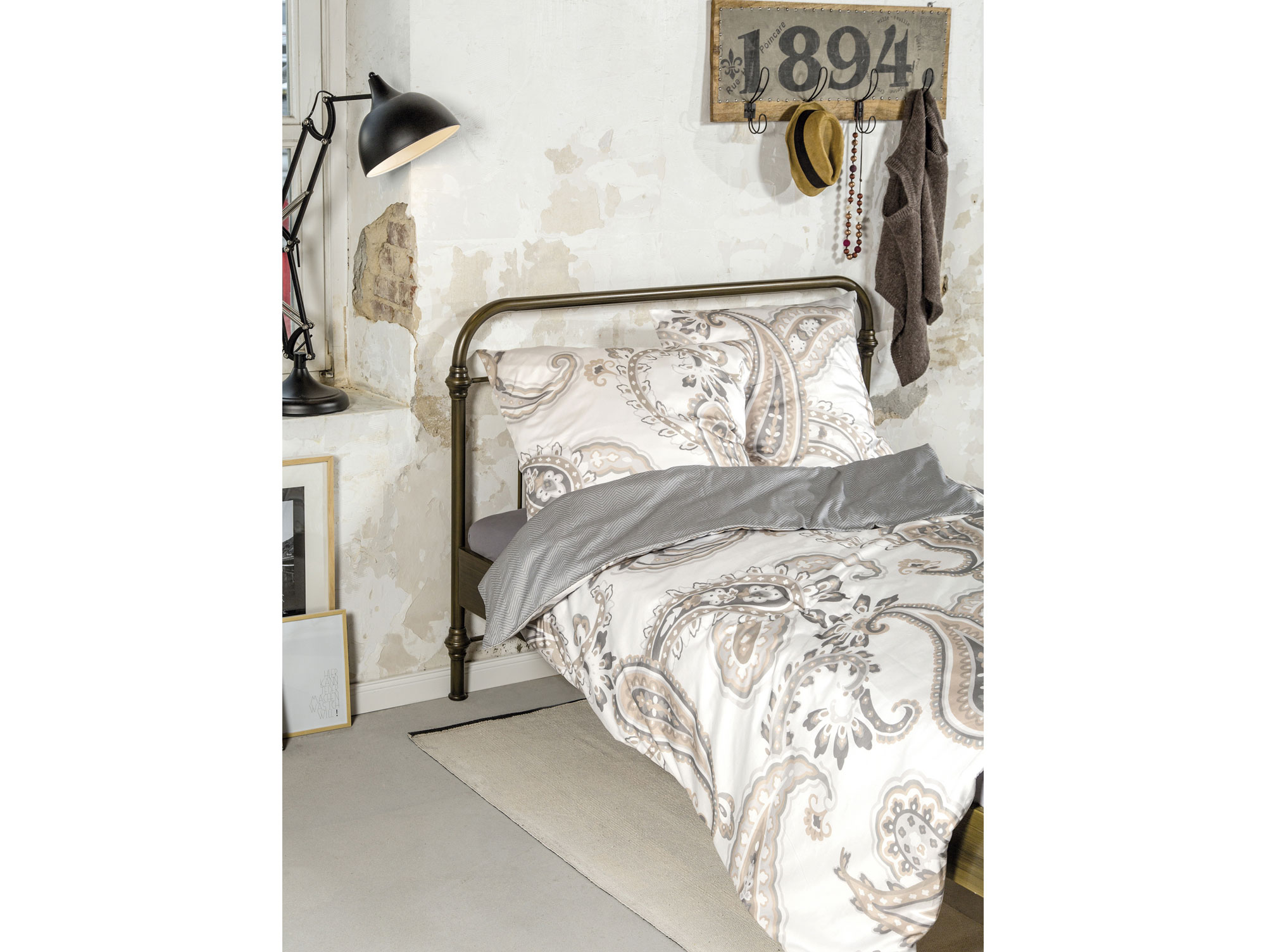 zeitgeist bettw sche feinflanell 135x200 80x80 cm. Black Bedroom Furniture Sets. Home Design Ideas
