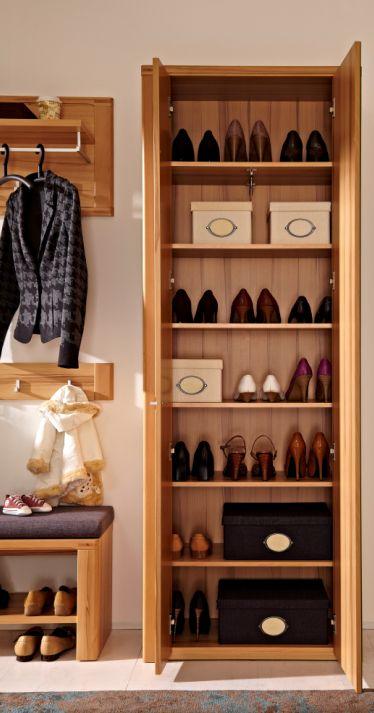 nestor plus komplett garderobe kernbuche. Black Bedroom Furniture Sets. Home Design Ideas