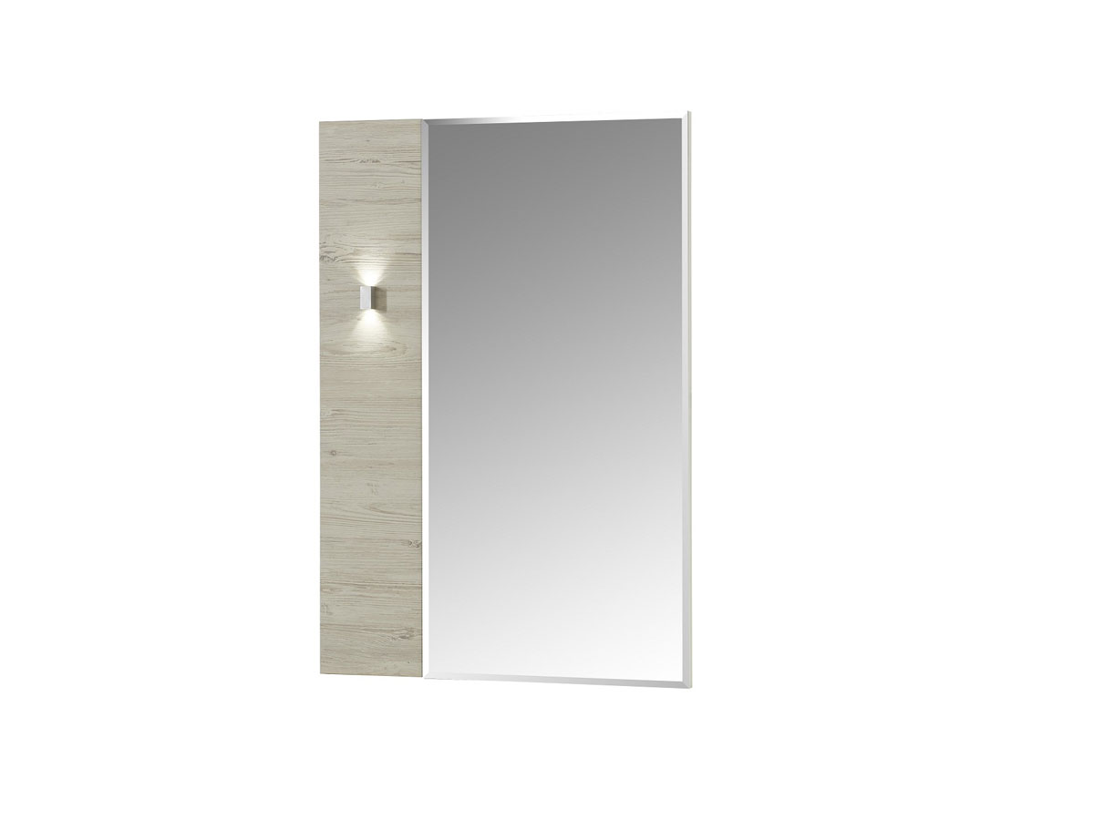 dublin spiegel 70x100 cm wei taupe. Black Bedroom Furniture Sets. Home Design Ideas