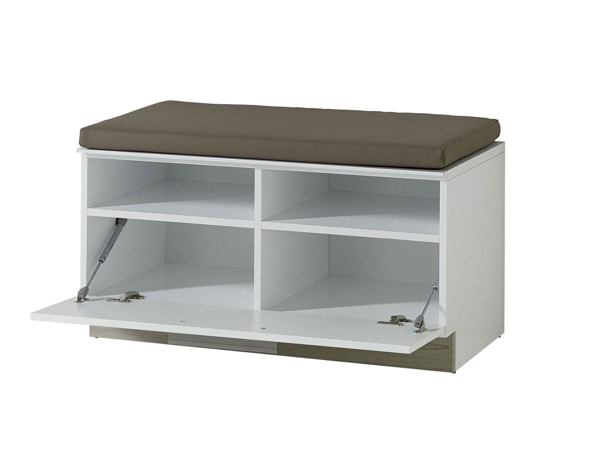 dublin sitzbank inkl kissen wei taupe. Black Bedroom Furniture Sets. Home Design Ideas