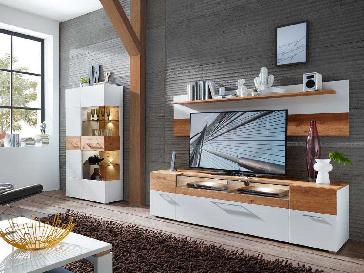 fox wandboard mit boden wei wildeiche. Black Bedroom Furniture Sets. Home Design Ideas