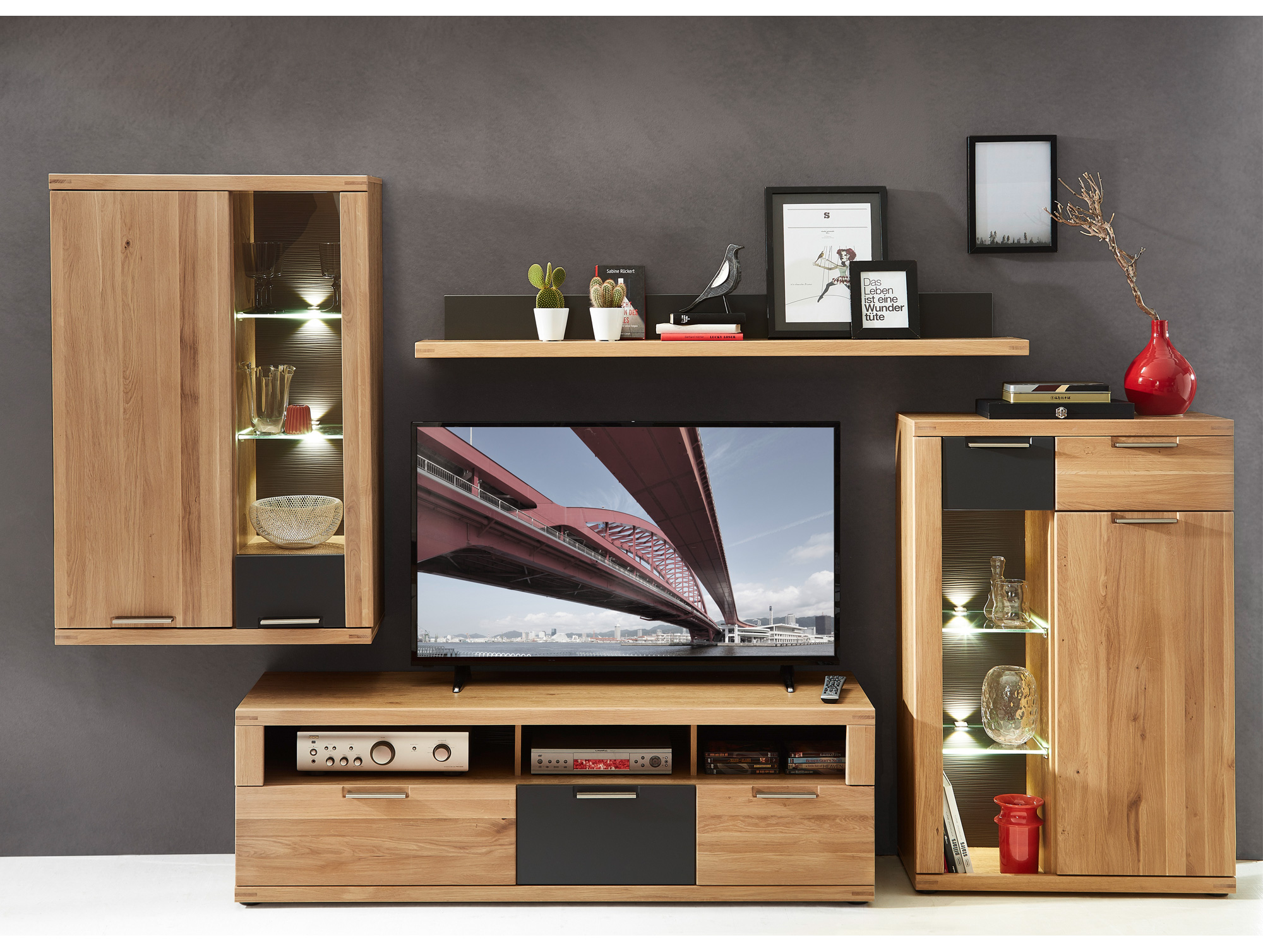 wandregal wildeiche stunning regal eiche antik ba. Black Bedroom Furniture Sets. Home Design Ideas