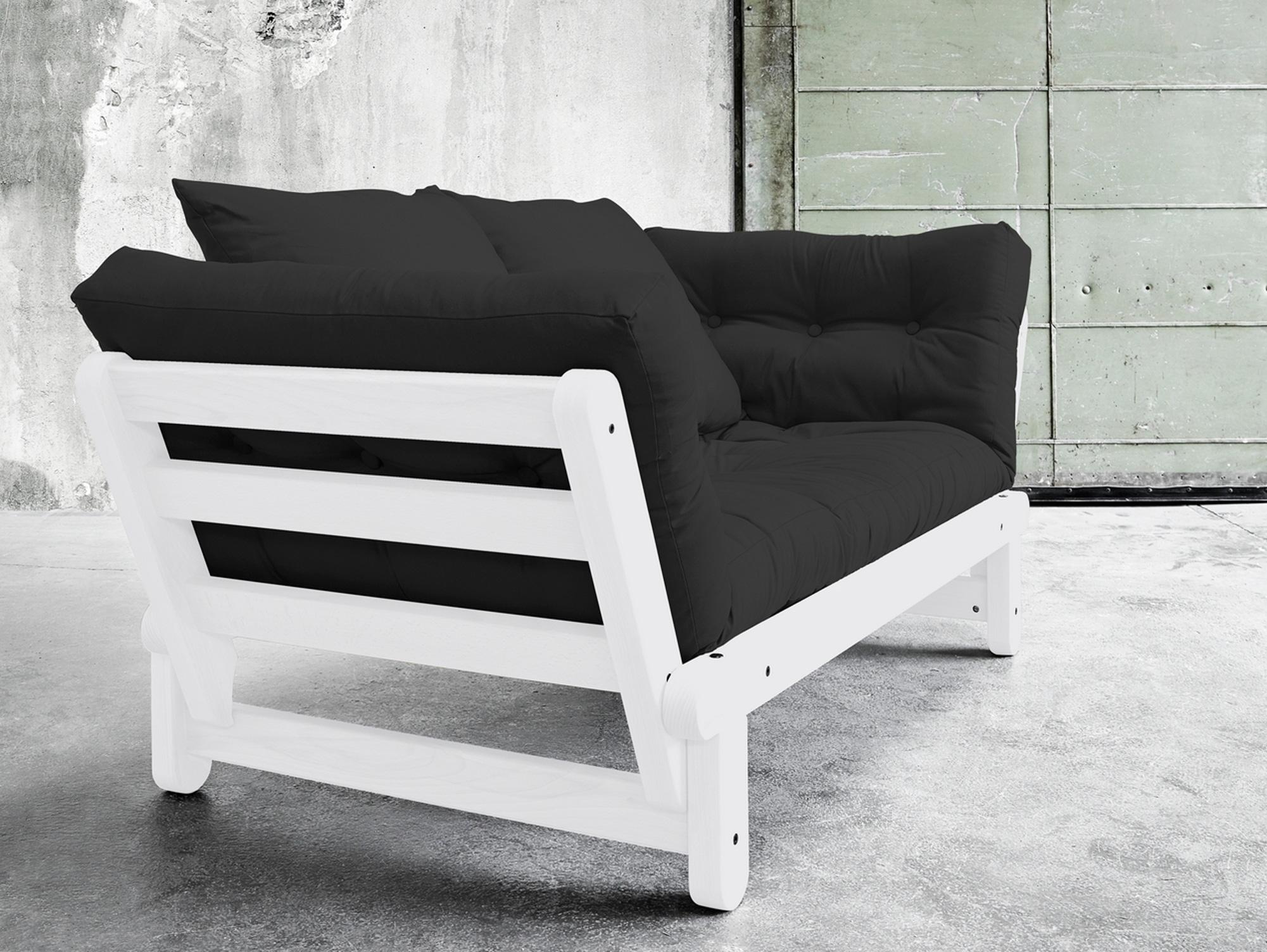 benjo funktionssofa kiefer natur und wei kiefer weiss dunkelgrau. Black Bedroom Furniture Sets. Home Design Ideas