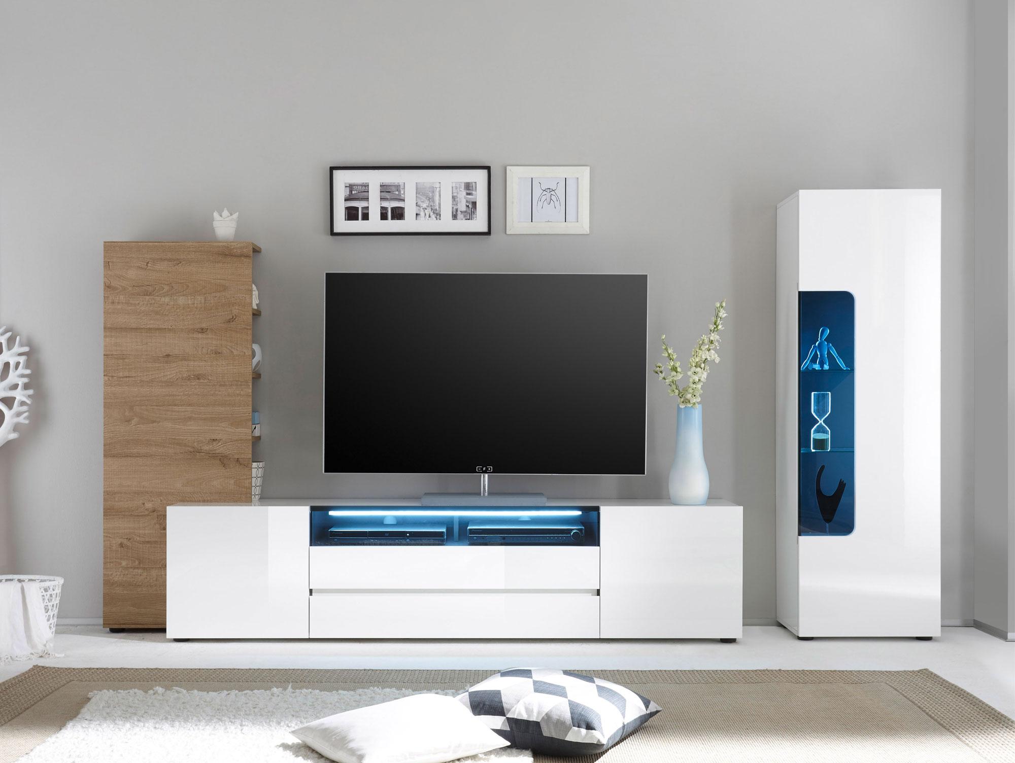 wohnwand weiss hochglanz with wohnwand weiss hochglanz. Black Bedroom Furniture Sets. Home Design Ideas