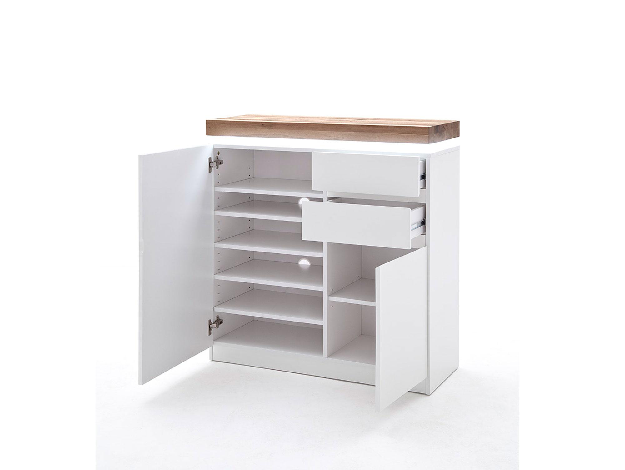 mina schuhschrank wei asteiche. Black Bedroom Furniture Sets. Home Design Ideas