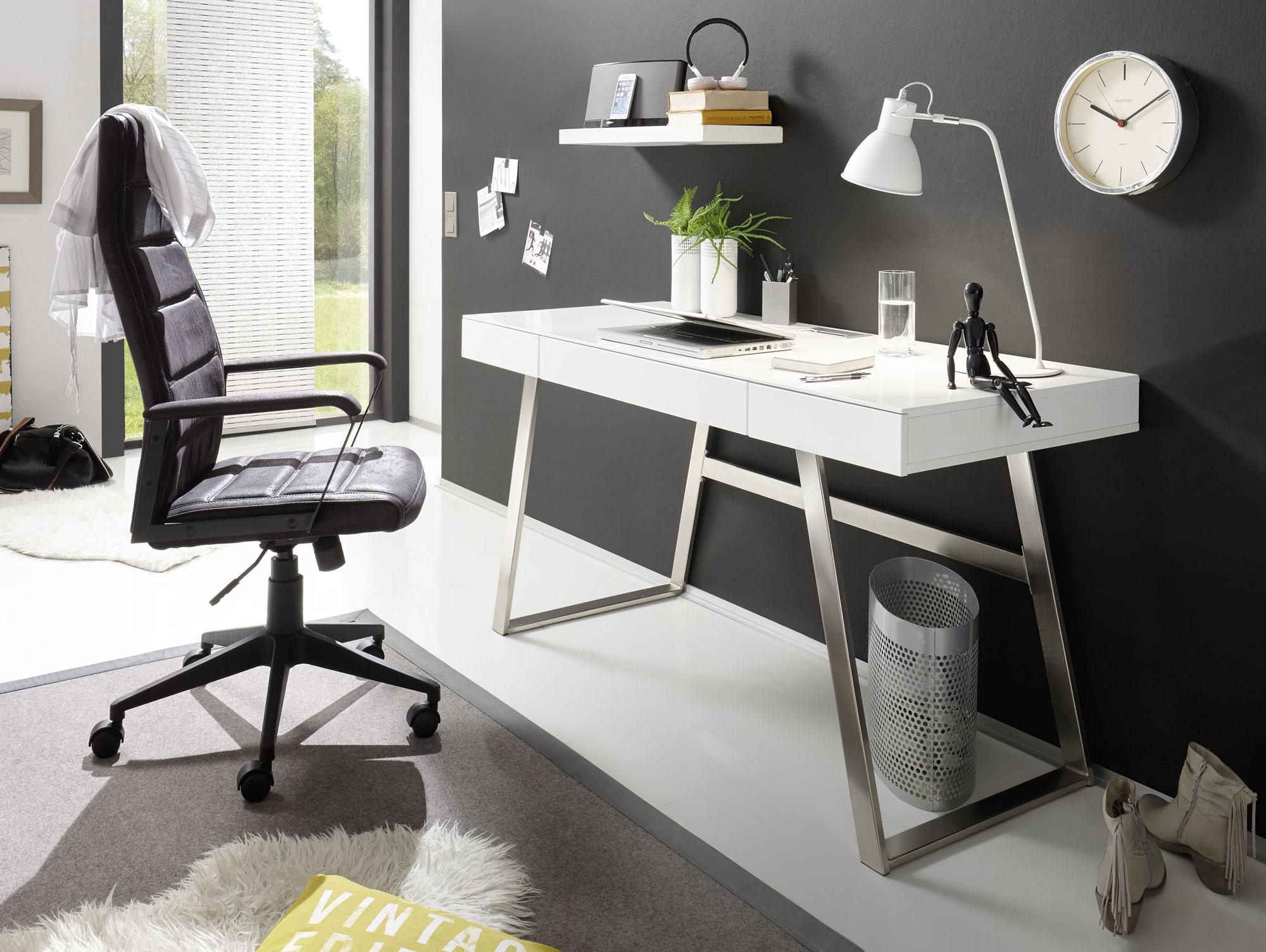 aura schreibtisch wei matt. Black Bedroom Furniture Sets. Home Design Ideas