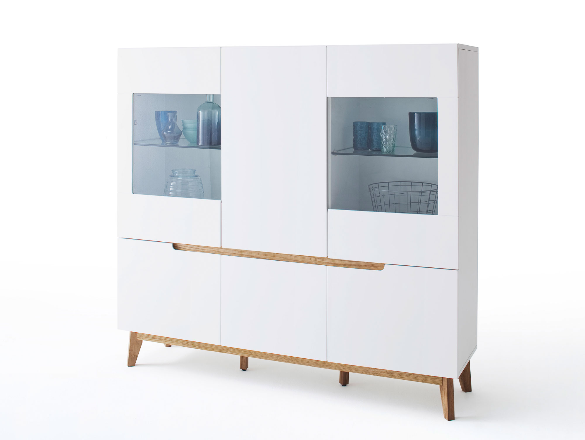 highboard cava matt wei eiche. Black Bedroom Furniture Sets. Home Design Ideas
