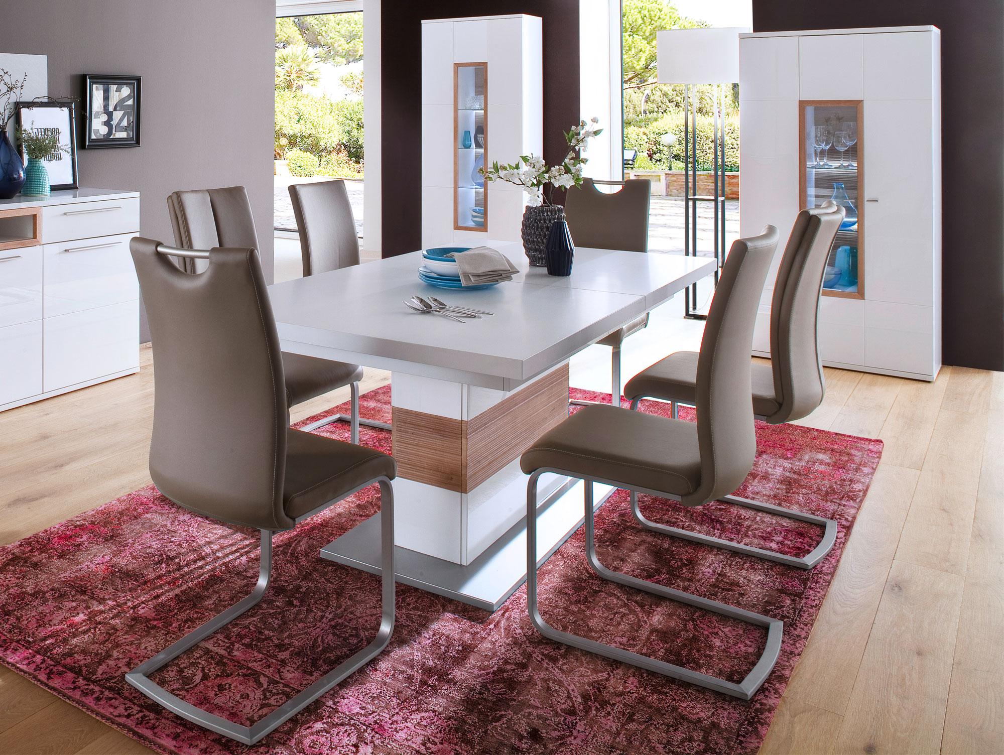 pancras esstisch 180 230x100 cm wei eiche riviera. Black Bedroom Furniture Sets. Home Design Ideas