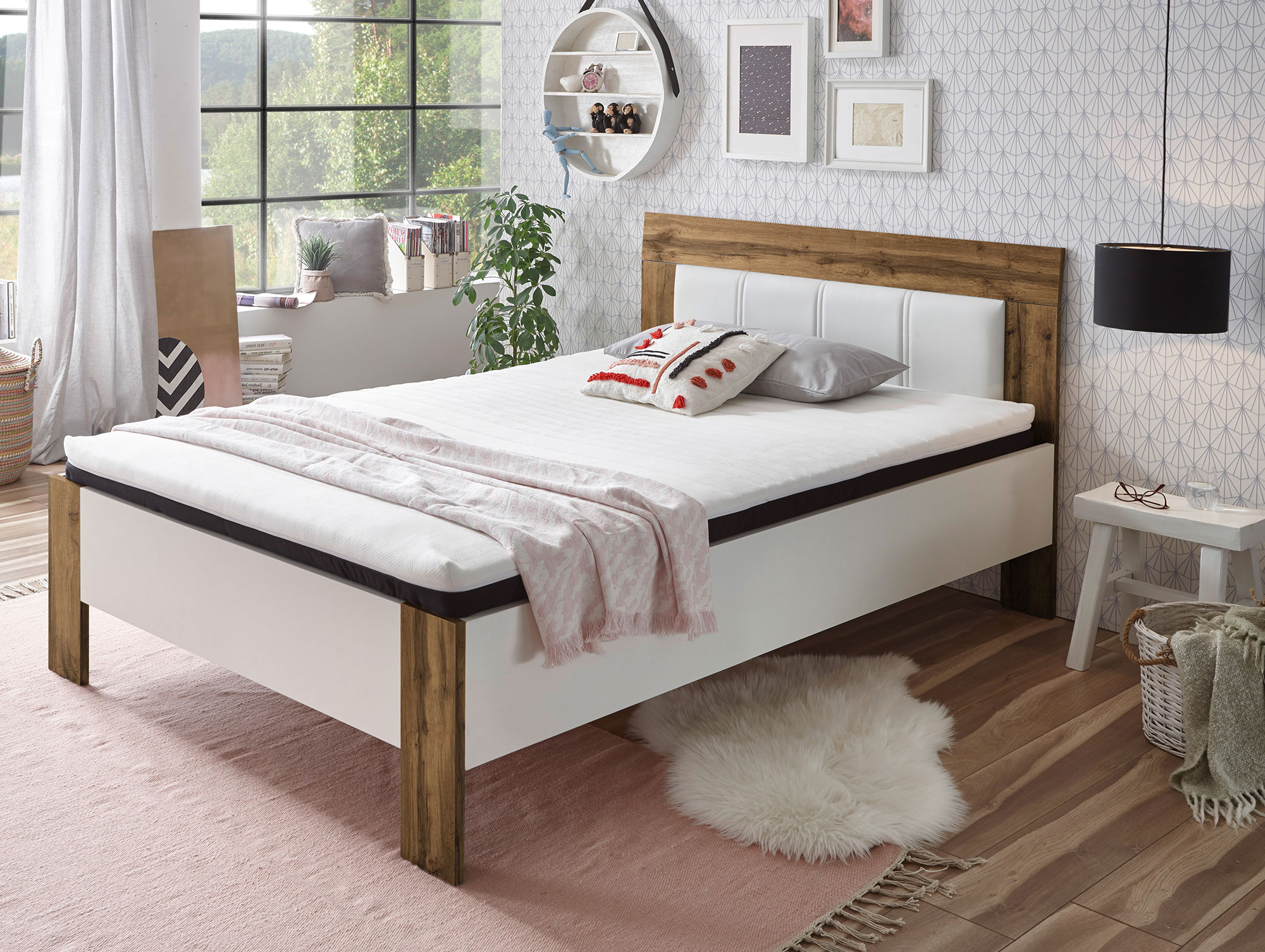 serry bett jugendbett komplett mit matratze und rost. Black Bedroom Furniture Sets. Home Design Ideas