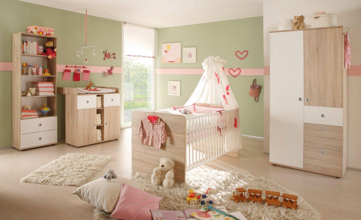 Tina regal mit 2 sk sonoma eiche wei for Babyzimmer streichen welche farbe
