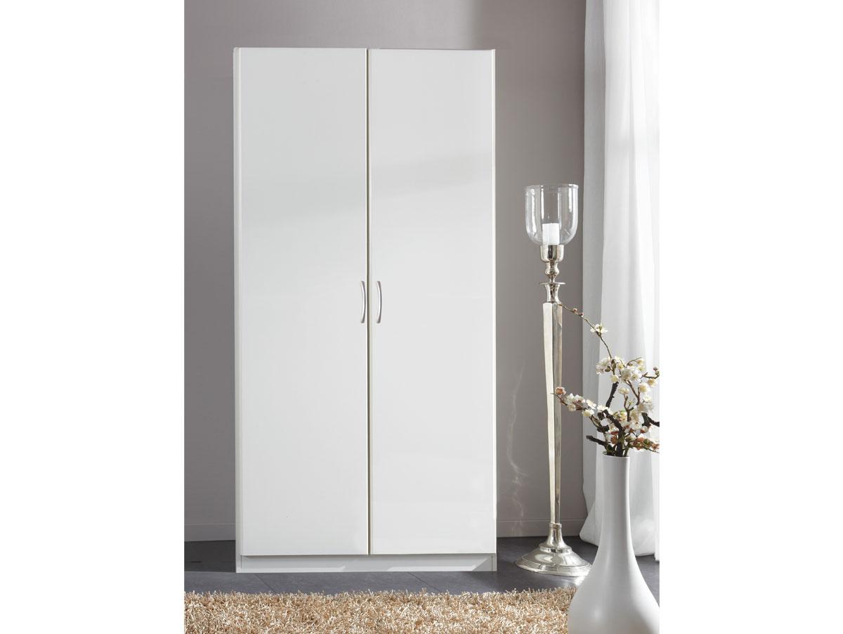 swen kleiderschrank 2 t rig h175 weiss. Black Bedroom Furniture Sets. Home Design Ideas