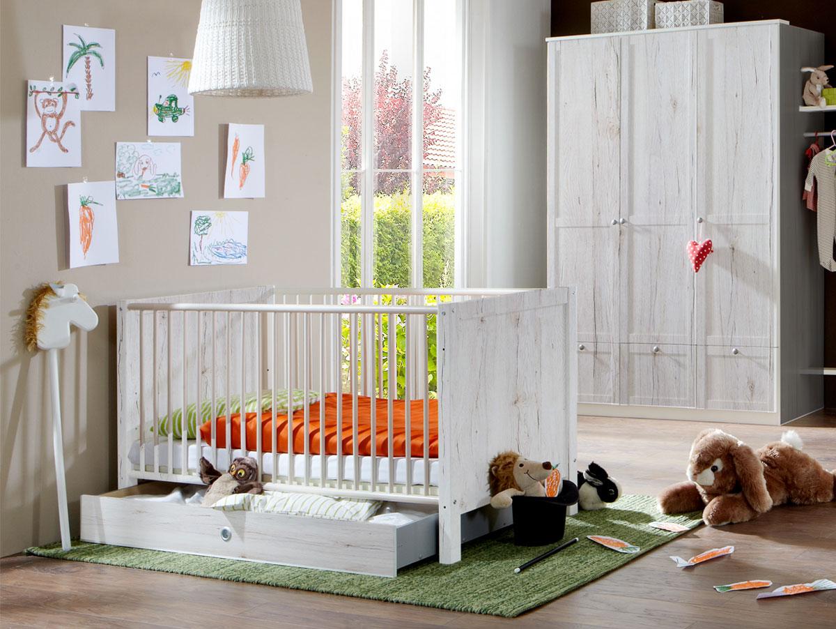 fee babybett mit schlupfsprossen weiss. Black Bedroom Furniture Sets. Home Design Ideas