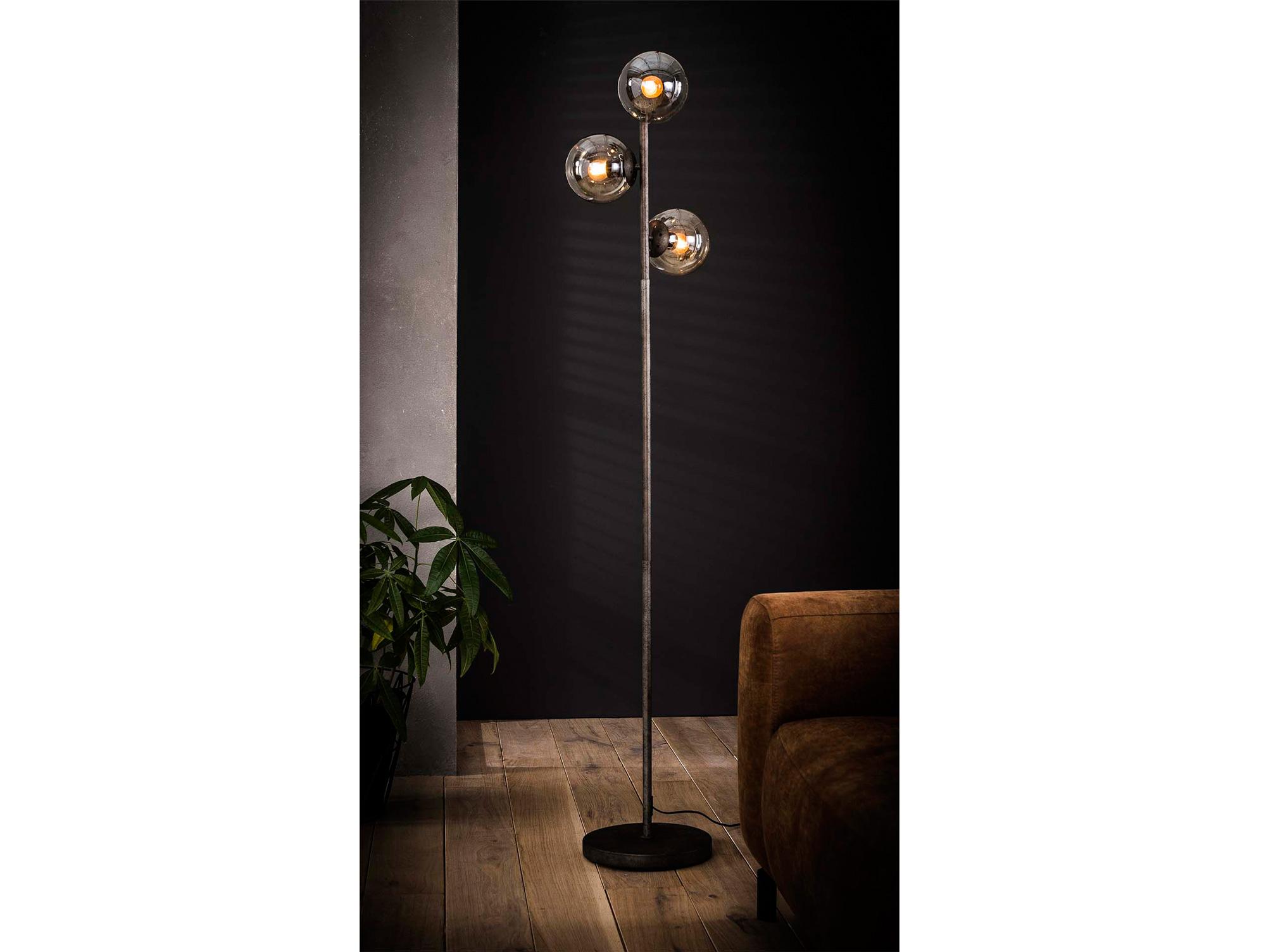 Marim Stehlampe Schwarz Mit 3 Glaskugeln