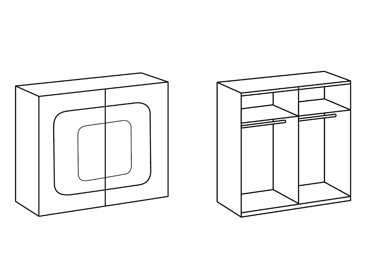 camiel schwebet renschrank breite 180 cm anthrazit alu glas schwarz. Black Bedroom Furniture Sets. Home Design Ideas